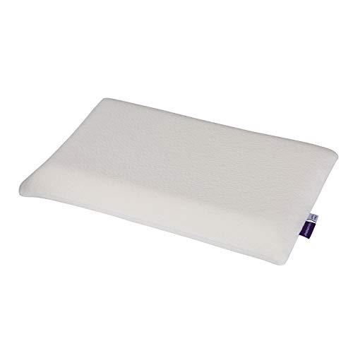 ClevaMama ClevaFoam Cuscino Neonato Culla, Traspirante, Ideale anche per Lettino, Previene la Plagiocefalia, da 0 a 12 mesi - Bianco, 23x40 cm