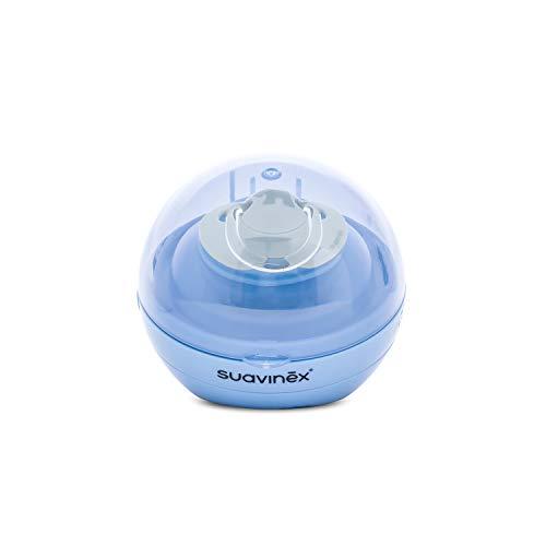 Suavinex - Sterilizzatore portatile per succhietti a luce violetta UV, con USB o con batterie, Sterilizza in 3 minuti, Uccide il 99% dei germi, Blu