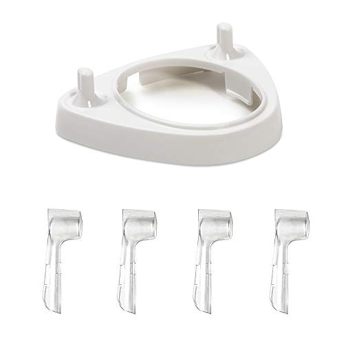 Portaspazzolino elettrico con 4 custodie antipolvere per testine Oral-B