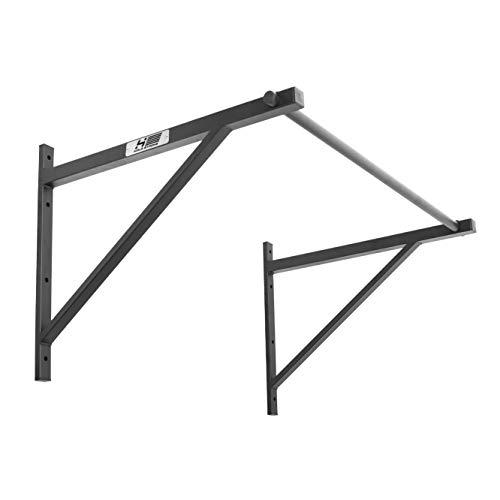Hold Strong Fitness sbarra di sollevamento da parete, per functional fitness, con certificazione a norma EN 957, perfetto per trazioni alla sbarra e muscle-up, ampia distanza dalla parete! (montaggio a muro o sul soffitto)
