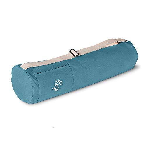 Lotuscrafts Borsa Yoga Mysore - Cotone Biologico di Equa ed Ecologica - Porta Tappetino Yoga - Sacca Tappetino Yoga - Borsa Tappetino Yoga - Yoga Bag - Yoga Mat Bag - Certificato GOTS