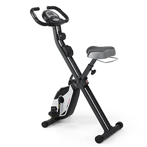 Ultrasport F-Bike, Bicicletta di Esercizi, Display LCD, Peso Massimo 130 kg, Livelli di Resistenza Regolabili, con Sensori di Pulsazioni, Trainer per Atleti e Anziani Unisex Adulto, Nero