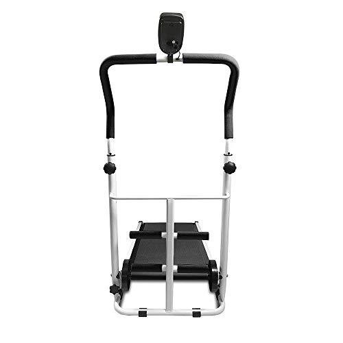YJIIJY Sport 2.0-Tapis Roulant, velocità 6-10 km/h, 3 Livelli Inclinazione Manuale,Tapis roulant Manuale, Display LED, Funzionamento, Sit-up e Twist Tapis roulant 3-in-1 (Nero)