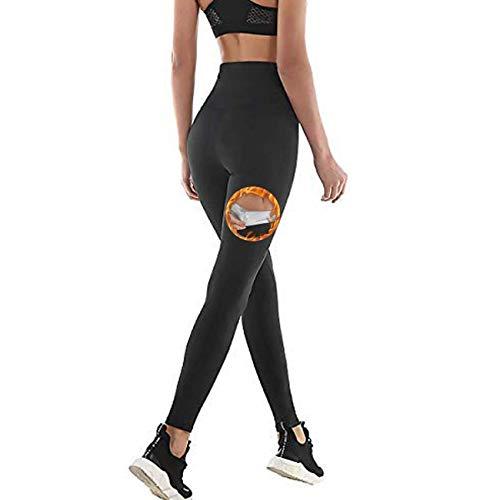 NHEIMA Pantaloni Sauna Dimagranti, Leggings Anticellulite Donna Fitness, Legging Termici Vita Alta in NANOTECHNOLOGIE per Sudar- Effetto Snellente e Push Up – Ideale per Yoga Corsa Palestra Sport (S)