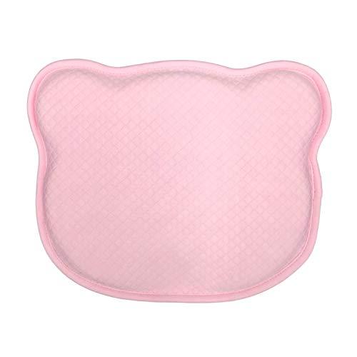 HuBorns - Cuscino per bambini per prevenire la plagiocefalia con 2 federe regalo rosa + bianco, cuscino sfoderabile per prevenire e curare la testa piatta dei neonati neonati.