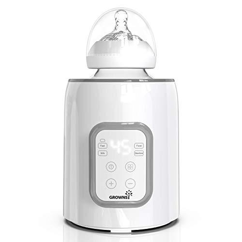 Scalda biberon, scalda biberon 5-in-1 e sterilizzatore con scaldabiberon timer e scongelamento Scaldino senza BPA con display LCD Controllo accurato della temperatura per latte materno e formula