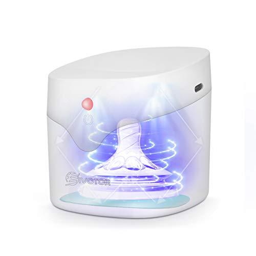 EIVOTOR Sterilizzatore Ciuccio Sterilizzatore UV Portatile per Ciuccio Scatola Disinfezione LED Scatole Ciuccio con 4 Mini Sterilizzazione per Giocattoli Tagliaunghie Collane Orecchini Orologi