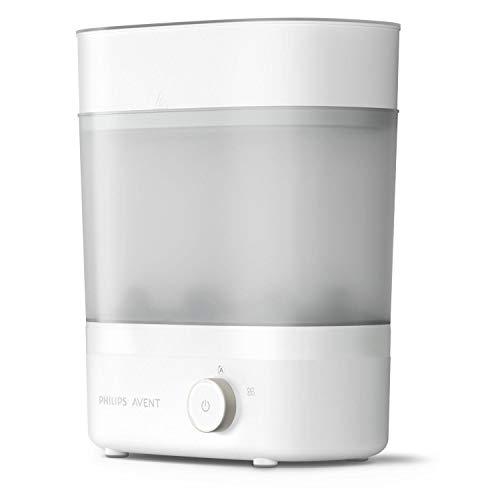 Philips Avent SCF293/00 sterilizzatore e asciugabottiglie a vapore, sterilizzatore elettrico a vapore, fino a 6 biberon, tettarella e accessori, design modulare, bianco