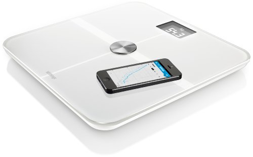 Withings Smart Body Analyzer Bilancia Connessa e Monitoraggio della Forma, Bianco, plastica