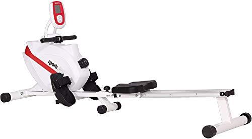 Max. 250 characters SportPlus Vogatore per Casa, Sistema Frenante Magnetico Silenzioso Esente da Manutenzione, Massa Volano di ca 8 kg, Computer di Allenamento con Ricevitore di Impulsi a 5 kHz, Peso Max Utente 150 kg, Sicurezza Testata