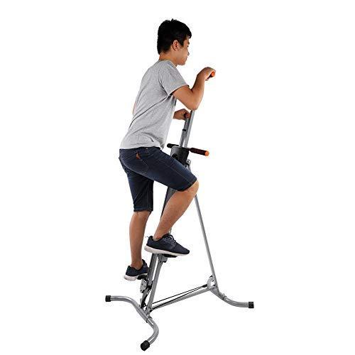 GOTOTOP Vertical Climber da Fitness Dispositivo Lanciare Bar Sport Climber Fitness Resistenza movimenti per Arrampicata,Esercizio Fitness Pieghevole, per Arrampicata 73 x 90 x 135-207cm