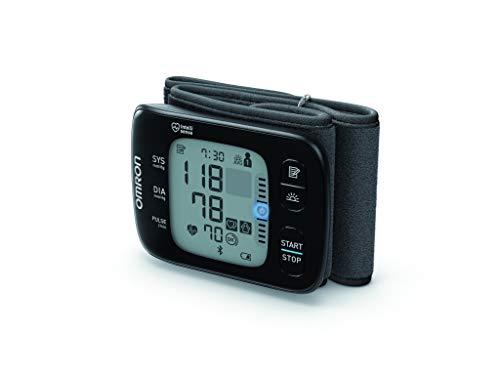OMRON RS7 Intelli IT Misuratore di Pressione da Polso con Sensore di Posizionamento e Connettività Bluetooth, da Usare a Casa e in Viaggio