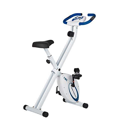 Ultrasport Unisex F-Bike Exercise Bike, Display LCD, Peso Massimo 100 kg, Livelli di Resistenza Regolabili, con Sensori di Pulsazioni, per Atleti e Anziani Unisex Adulto, Blu Marino