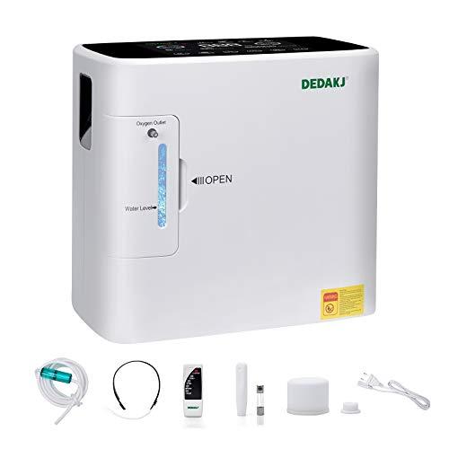 DEDAKJ Concentratore di Ossigeno, 1-7L/min il Flusso 30%-90% Regolabile Concentrazione 220V, DE-1S