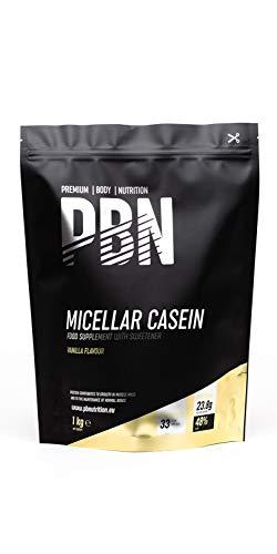 PBN - Premium Body Nutrition Integratore di Caseina Micellare, 1 kg, Gusto Vaniglia