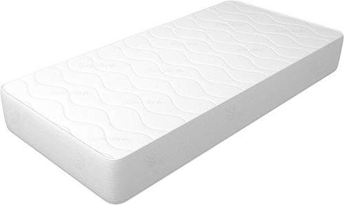 Materasso 80x190 cm Singolo altezza 14 cm, in WaterFoam, tessuto AloeVera, indeformabile, anallergico ed antiacaro, rigidità media. Modello: Plus H14