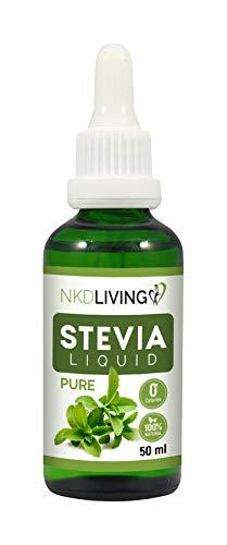 Gocce di Stevia Liquida Pure 50ml – Stevia Pura, Senza Sapori Aggiunti – con contagocce in vetro