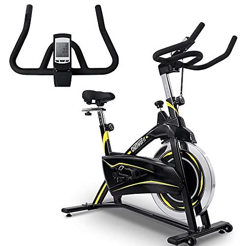 OneTwoFit Cyclette Magnetica da Allenamento Indoor Cyclette Stazionaria regolabile con Display LCD per Home Cardio Fitness Volano da 16KG OT316