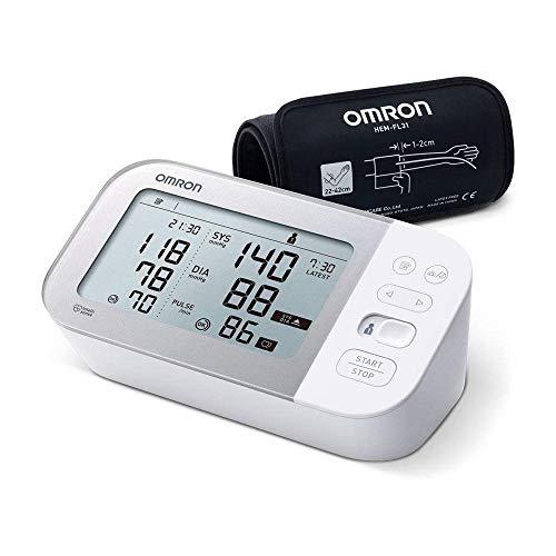 OMRON X7 Smart Misuratore di Pressione Arteriosa da Braccio - Apparecchio per Misurare la Pressione con Rilevazione di Fibrillazione Atriale AFib, Connessione Bluetooth, compatibile con Smartphone