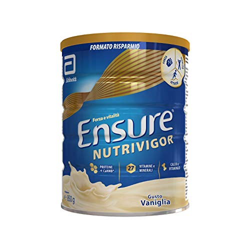 Abbott Nutrition Ensure NutriVigor Integratore in Polvere alla Vaniglia, Multivitaminico Multiminerale con 27 Vitamine e Minerali | Confezione 850g