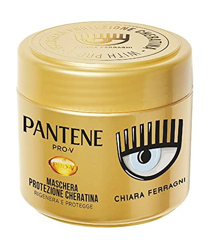 Pantene Pro-V by Chiara Ferragni Maschera Protezione Cheratina Rigenera E Protegge Per Capelli Deboli e Danneggiati, Edizione Limitata, 300 ml