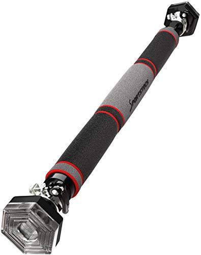 Sportstech Barra per trazioni KS200 con Nuovo e Innovativo Sistema Esagonale Brevettato 3 Strati, 6 Punti di Pressione, Chiusura di Sicurezza e Guanti compresi