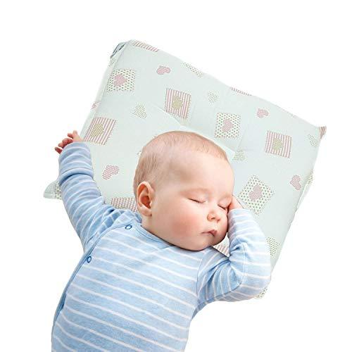 Cuscino Neonato made in Italy, utilizzato per prevenzione della plagiocefalia, cuscino anti testa piatta interamente lavabile fino a 40°C, previene la testa piatta dei neonati (Rosa)