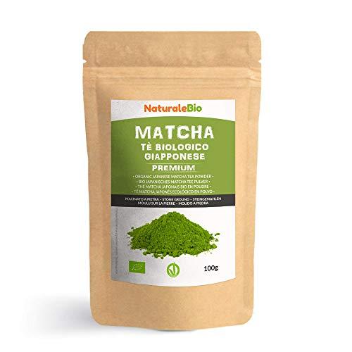 Tè Verde Matcha Biologico in Polvere [ GRADO PREMIUM ] da 100 grammi. The Matcha Prodotto in Giappone Uji, Kyoto. Ideale da Bere, per i Dolci, Frullati, Tè freddo, nel Latte e come ingrediente.