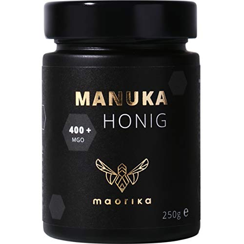 maorika Miele di Manuka 400 MGO + 250 g in barattolo (opaco, senza plastica) - testato in laboratorio, certificato dalla Nuova Zelanda