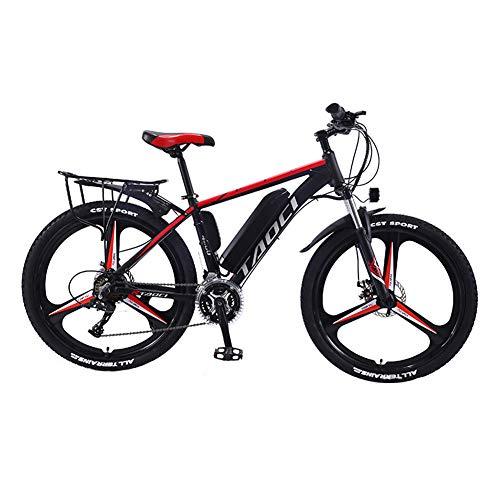 Hyuhome Biciclette elettriche per Adulto, in Lega di magnesio Ebikes Biciclette all Terrain, 26' 36V 350W 13Ah Rimovibile agli ioni di Litio Montagna-Bici per la Mens,Rosso,13Ah80Km