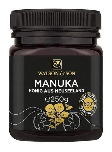 Watson & Son miele di manuka MGO 800+ 250g | Qualità Premium certificata dalla Nuova Zelanda | puro e naturale