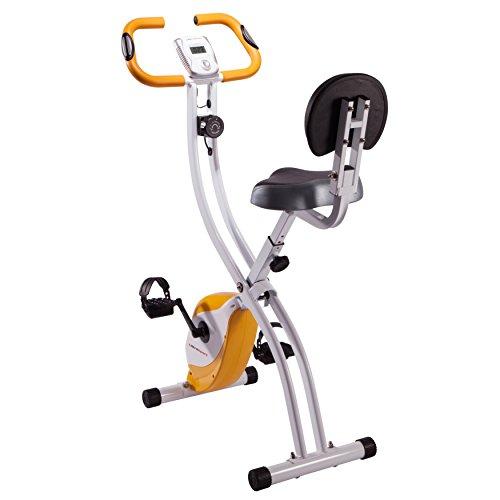 Ultrasport Unisex F-Bike Exercise Bike, Display LCD, Home Trainer Pieghevole, Livelli di Resistenza Regolabili, con Sensori di Pulsazioni, per Atleti e Anziani