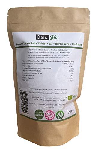 Semi Di Zucca Bio Sgusciati Crudi, Provenienza Austria (Stiria) - 500 G