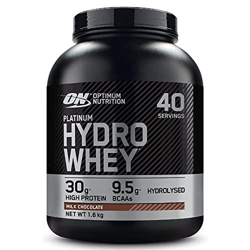 Optimum Nutrition Hydro Whey, Proteine del Siero del Latte Idrolizzate con Aminoacidi Ramificati Naturali e Aggiunti, Cioccolato al Latte, 40 Porzioni, 1,6 kg, il Packaging Potrebbe Variare