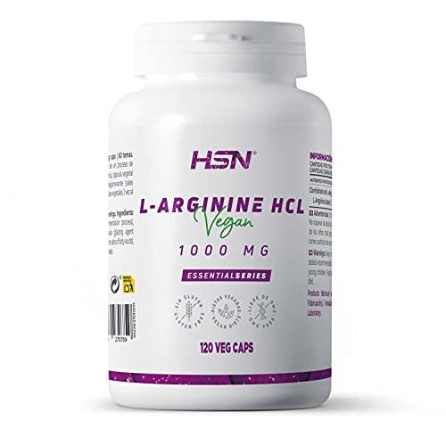 HSN Arginina 1000mg di HSN   Ossido Nitrico, Miglioramento delle prestazioni sportive, 120 capsule vegetali - 200 ml