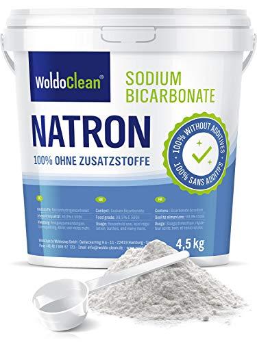 Bicarbonato di Sodio 4.5kg - in qualità alimentare incl. cucchiaio dosatore Vegan