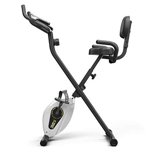 Bluefin Fitness Tour XP Cyclette Da Casa Pieghevole | Attrezzi Fitness Da Casa | Telaio In Acciaio | 8 Livelli Di Resistenza | Sensori Di Frequenza Cardiaca | App Kinomap | 5 Anni Di Garanzia | LCD