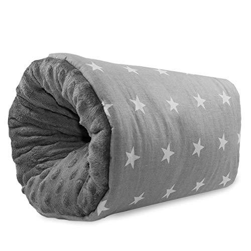 Cuscino Allattamento Neonato - cuscini allattamento braccio, portatile, cuscini da viaggio, lavabile, di supporto per c-sections mamma Grigio (26 cm x 16 cm, Grigio con stelle bianche)