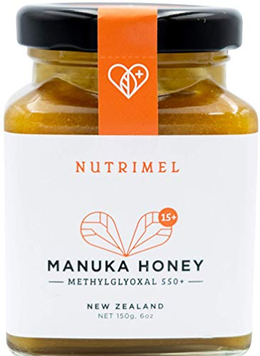 NUTRIMEL Miele de Manuka 15+ (MGO 550+) testato e certificato | 100% puro Nuova Zelanda | (15+, 150)