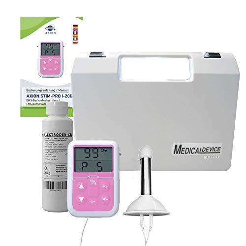 axion Set per Allenamento del Pavimento pelvico Maschile - elettrostimolatore EMS con sonda rettale Diametro Max. 19mm Lunghezza 65mm e Gel di conduzione - qualità