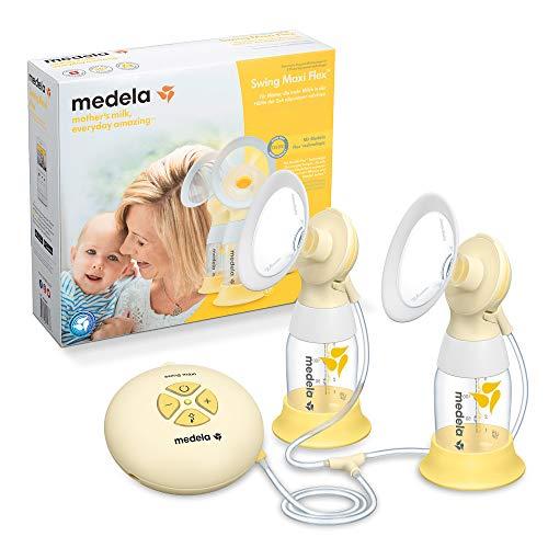 Medela Swing Maxi Flex Tiralatte Elettrico Doppio, Più Latte in Meno Tempo, con Coppe PersonalFit Flex e Tecnologia 2-Phase Expression