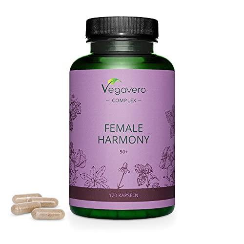 MENOPAUSA Vegavero® | 120 capsule | Senza Ormoni e senza Soia | 100% NATURALE: con Enotera, Melissa, Camomilla e Salvia | Vegan