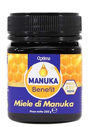 Optima Naturals Miele di Manuka + 550 Mgo da 250 G, Manuka Benefit, 30 Grammi