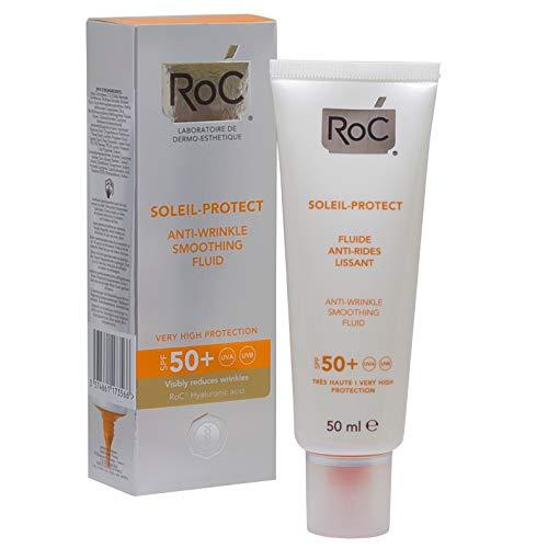 Roc Soleil Protect Viso Fluida Anti Rughe Levigante SPF50+, 50 ml.