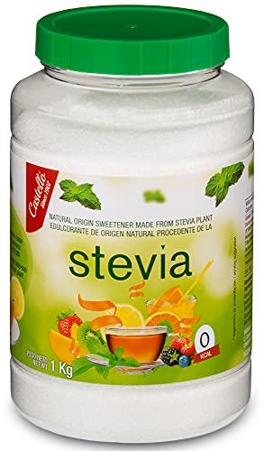 Dolcificante Stevia + Eritritolo 1:8 - Granulato - Sostituto dello zucchero 100% Naturale - Fatto in Spagna - Keto e Paleo - Castello since 1907 (1 g = 8 g di Zucchero (1:8), 1 kg)