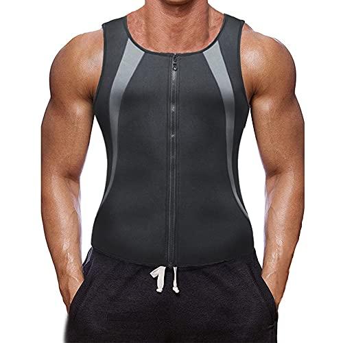 XDSP Fit Style Waist Trainer Vest for Weightloss Hot Compressione Gilet Dimagrante, Accelera la Sudorazione e la Perdita di Peso, Sudore Shaper Allenamento Fitness (Gray, L)