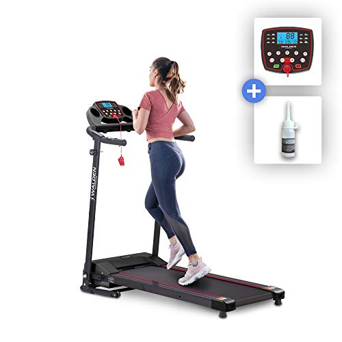 Tapis roulant elettrico Walden Sports per casa F3600 Tapis roulant pieghevole Motore 600 W 12 programmi preimpostati Schermo LCD modello 2020