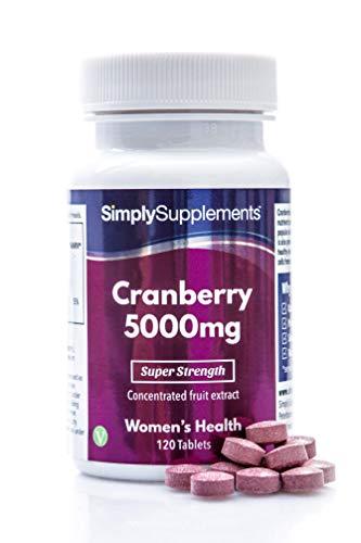 Mirtilli rossi 5000 mg - 120 compresse - Adatto ai vegani - 6 mesi di trattamento - SimplySupplements