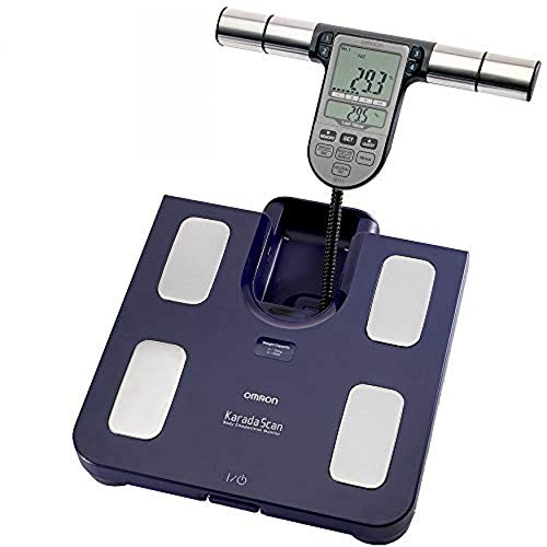 OMRON BF511 Misuratore della composizione corporea completo e clinicamente validato con 8 sensori ad alta precisione per la misurazione mani-piedi - blu