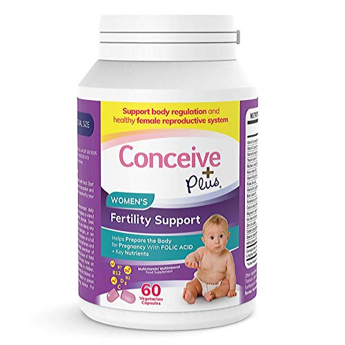 Conceive Plus Women's, Vitamine per aiutare gli aiuti per il concepimento,   Scorta di 30 giorni, 60 Capsule + Acido Folico + Nutrienti Chiave
